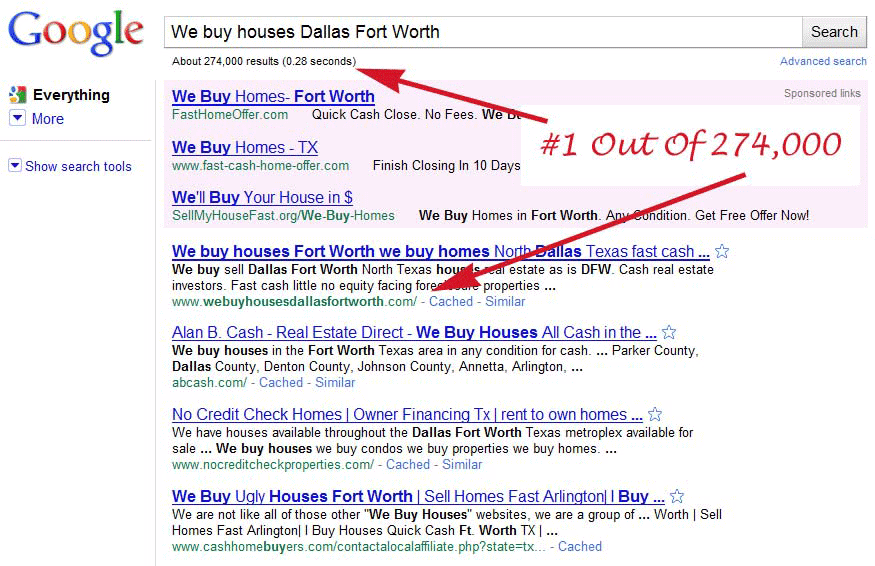 Search Engine Optimization - We Buy Houses Dallas