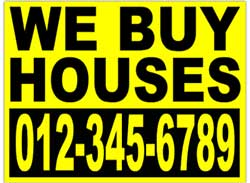 Take yard signs when going to inspect investment properties